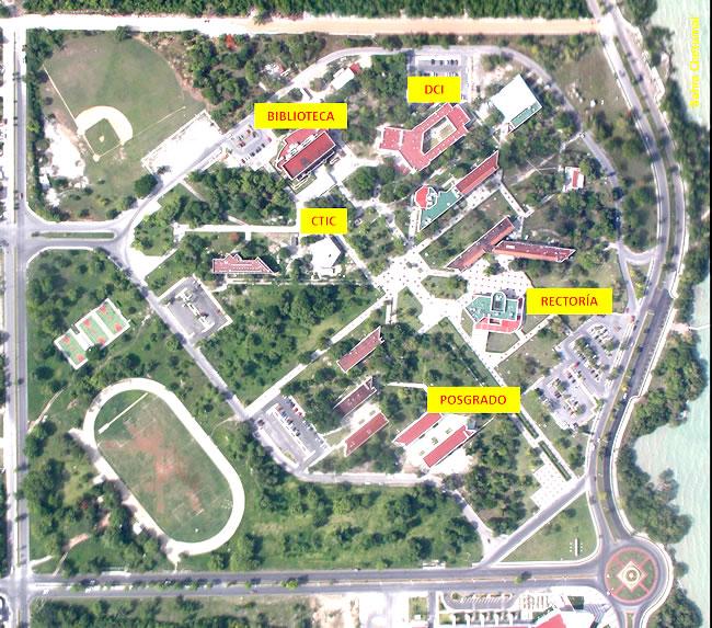 Mapa de la universidad de Quintana Roo